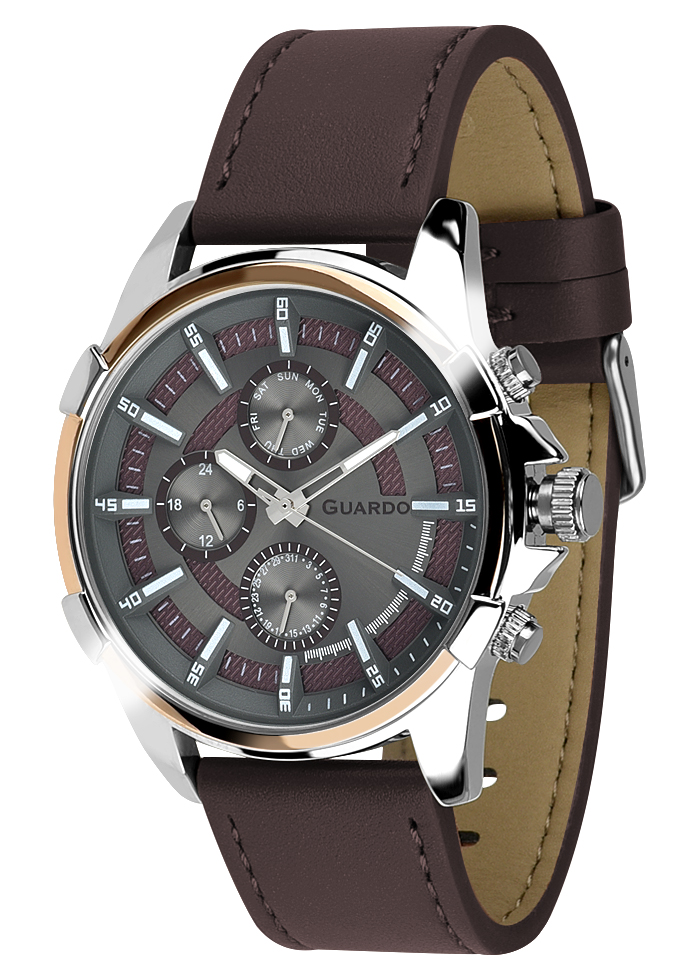 Męski zegarek Guardo Premium 012469-3